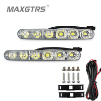 2x DRL High Power 2X6 Led 18W Led Car Light Source Light Waterproof DC12V Car Styling