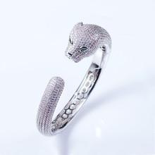 Inlaid Zircon Leopard Head Bracelet  Personality Female Explosion Section Wholesale