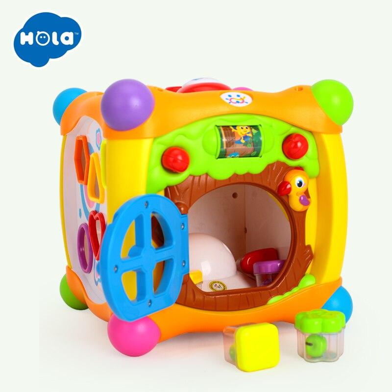HUILE jouets 936 enfants activité Alphabet Cube bébé jouer jouet 13 blocs empilables apprentissage bébé enfant en bas âge musique jeu jouets cadeaux - 2