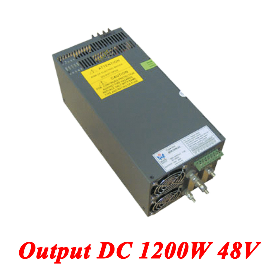 Scn-1200-48 Switching Power Supply 1200W 48v 25A,Single Output Industrial-grade Power Supply,AC110V/220V Transformer To DC 48V 1200w 48v adjustable 220v input single output switching power supply for led strip light ac to dc