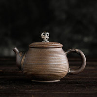 Handmade Yixing Teapots Ceramic Retro Pottery CHinese Travel Tea Pot Kettles Kung Fu Clay Pots Drop Shipping