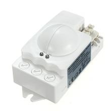 360 grados 500 w inteligente microondas motion sensor de luz interruptor radar de techo empotrada de la pared 90x40x40mm motion sensors bajo precio
