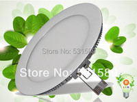 Wholesale 20pcs 15W Super Bright Led Ceiling Panel Light Cool White Warm White AC85 265V For