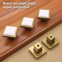 10Pcs/Set Zinc Alloy Cabinet Drawer Furniture Pulls knobs Wardrobe Door Square Handle Knobs and handles