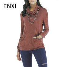 90ed7d84440 ENXI Pregnancy Clothes Women Maternity Long Sleeve Solid Tops Simple Comfy T -Shirt With Pocket Embarazada Mujer Mom Clothing