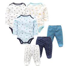6 sztuk partia moda zestawy ubrań dla niemowląt bawełna noworodka maluch niemowląt z długim rękawem śpioszki dla niemowląt + spodnie dla niemowląt Boys Baby dziewczyny ubrania tanie tanio Times Favourite Suknem Regularne O-neck Unisex Płaszcz 100 Cotton Pasuje prawda na wymiar weź swój normalny rozmiar