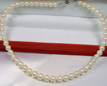 DYY+++816 9-10MM SOUTH SEA NATURAL PINK PURPLE PEARL NECKLACE