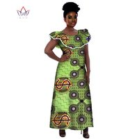 Wholesale 2017 Traditional African Dresses For Women Maxi Size Long Dress Bazin Riche clothes African Dresses for Women WY226