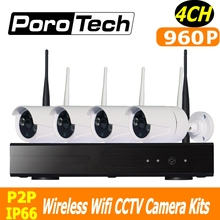 960P wifi cctv kits 4ch wirelsss IP camera kit 500m cascade mode Outdoor Indoor Home Security Surveillance System nvr kits