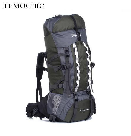 LEMOCHIC HIGH bigCapacity Mountaineering backpack Sports Travel Bag Outdoor Sports Camping Hiking Climbing rucksack 100L adjust lemochic high 65l outdoor mountaineering bag waterproof sport travel backpack camping hiking shiralee luggage canvas rucksack