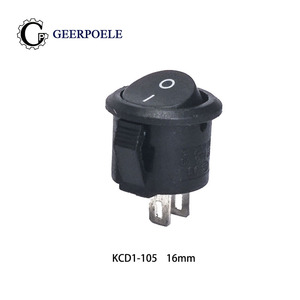 10 pcs/lot KCD1-105 2 Pin 16mm SPST 250V 3A Boat Switch Snap-in ON OFF Rocker switch Position