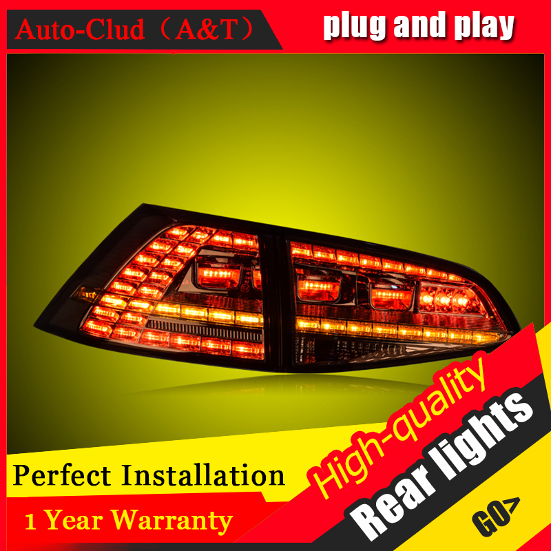 Car Styling LED Tail Lamp For VW GOLF 7 Tail Lights 2012-2016 For GOLF 7 Rear Light DRL+Turn Signal+Brake+Reverse LED light en car styling for vw golf 7 tail lights 2013 2015 golf7 mk7 led tail light gti r20 rear lamp led drl brake park signal