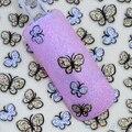 24 Folhas 3D Glitter Borboleta Art Nail Stickers Decalques para Unhas Dicas de Decoração Manicure Kit