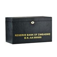 WR Зимбабве 100 триллион Позолоченные банкноты долларов 1000 шт. с деревянной коробке бизнес подарки коллекция поддельные бумага деньги