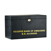 WR Zimbabwe 100 Trillion Gold Plated Banknote Dollars 1000pcs With Wooden Box Business gifts Collection Fake Paper Money