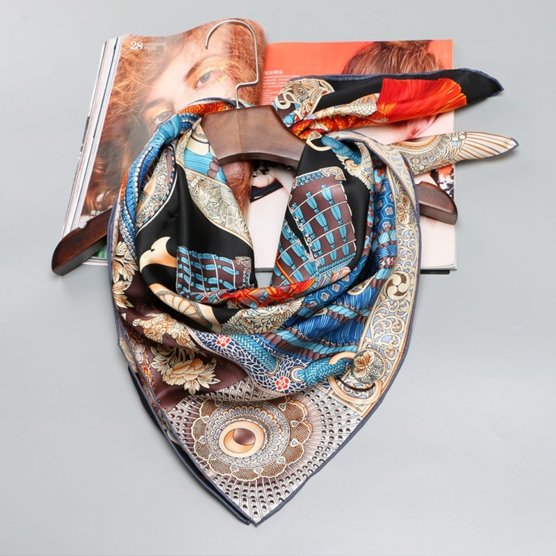100% Silk Scarf Hijab Foulard Head Scarves for Hair
