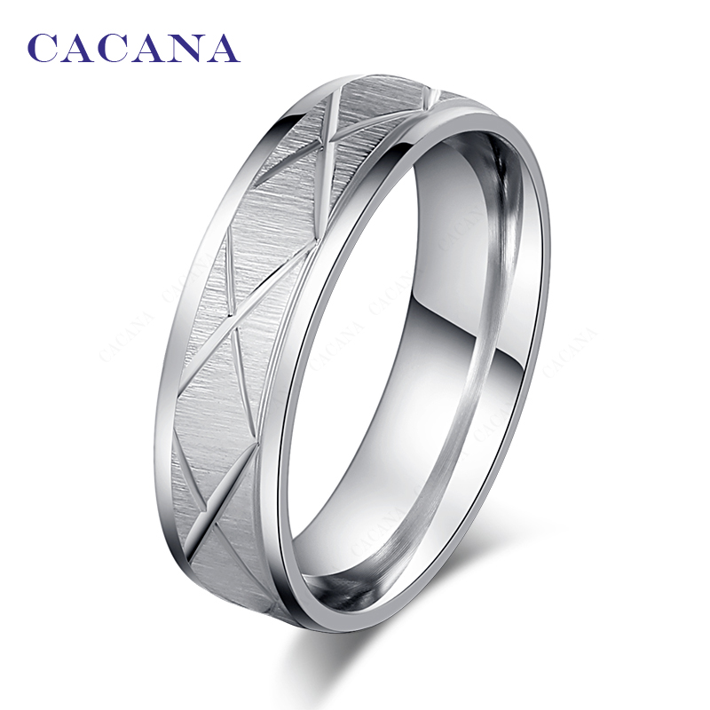 CACANA Titanium Stainless Steel Rings For Women X Sign Fashion Jewelry Wholesale NO.R34