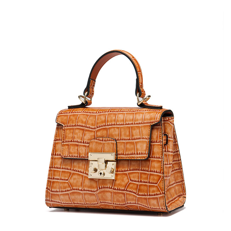 The first layer of leather leather bag bag new Kylie portable Shoulder Messenger Bag agent on behalf of a crocodile the first layer of leather diamond chain bag 2017 new lang wei korean women shoulder messenger bag on behalf of a small