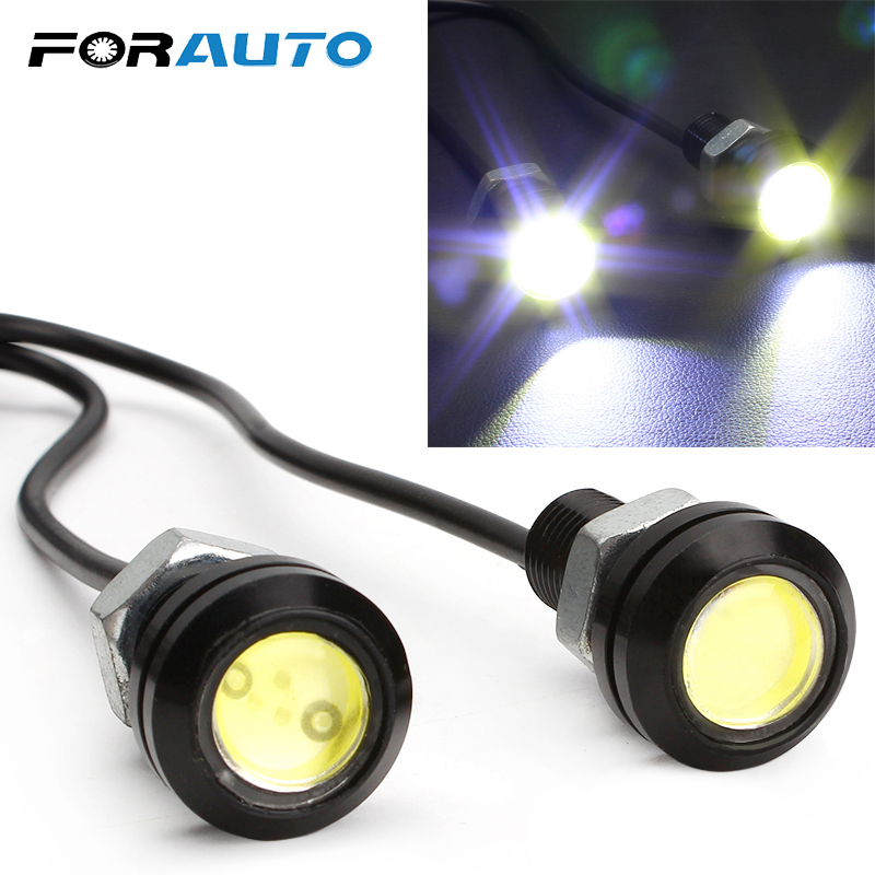 FORAUTO Super Bright Universal COB Led Eagle Eye Daytime Running Light Fog Light 12V DC Car Styling Ultrabright Headlight