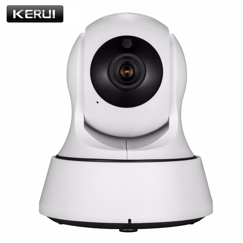 KERUI 720P HD Wireless WiFi Home Security Surveillance IP Camera  Infrared Night Vision Motion Detector Baby Monitor Indoor 720p hd wifi camera p2p wireless baby monitor security camera cloud storage night vision camera compatible with sensor detector