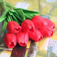 20Pcs /Lot 5CM Diameter 34CM Length Artificial Fabric Lily Flowers Multi Colors  For Home Decoration Wedding Supply Silk