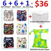 [Mumsbest] 13 pz/lotto 2016 Migliore Vendita Prodotti Per Bambini Lavabili Pocket Cloth Diaper Nuovi Disegni Set Imballaggio con Inserto e Wet bag