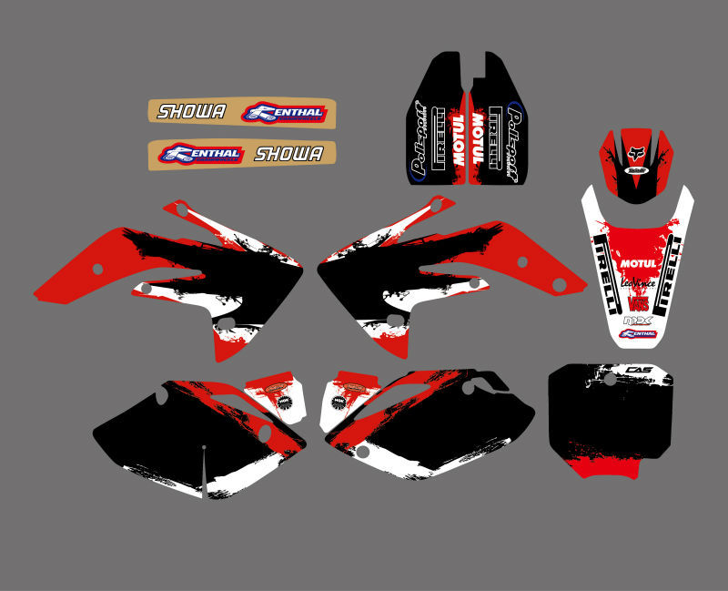 Motorcycle Graphics & Background Decal <font><b>Sticker</b></font> <font><b>Kit</b></font> for <font><b>Honda</b></font> CRF150R LIQUID COOLED 2007-2012 CRF <font><b>150</b></font> R CRF 150R Dirt Bike image