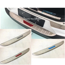 For Mazda CX 3 CX3 2017 2018 2019 2020 Car Stainless Steel Outside Rear Back Pedal Bumper Trim Plate Trunk Frame Threshold Trim
