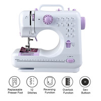 Fanghua 12 Stitches Mini Sewing Machine 505A Portable Knitting Machine Multifunction Electric Replaceable Presser Foot