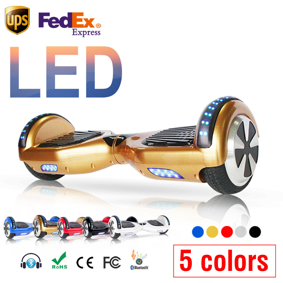 Gold deskorolka elektryczna balancing scooter electric board skateboard scooter  hoverboard