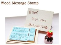 Wooden Stamps Wood Crafts For Gifts Souvenir Rubber STAMP Free Shipping