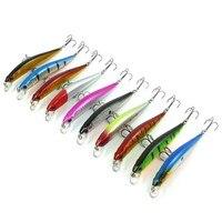 10pcs Set 9cm 7 5g Fishing Lure Isca Artificial Floating Minnow Hard Bait Crankbait Swimbait Wobblers