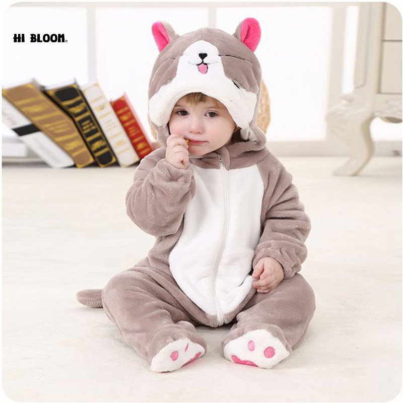 High Quality Baby Clothing 100% Flannel Long Sleeve Baby Jumpsuit Rompers Soft Infant Hooded Jumpsuit Sets Cartoon Animal Onesie newborn baby rompers baby clothing 100% cotton infant jumpsuit ropa bebe long sleeve girl boys rompers costumes baby romper