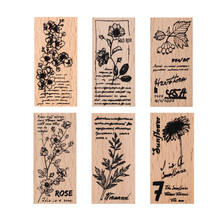 Flower series wooden rubber stamps for scrapbooking stationery DIY  stamp
