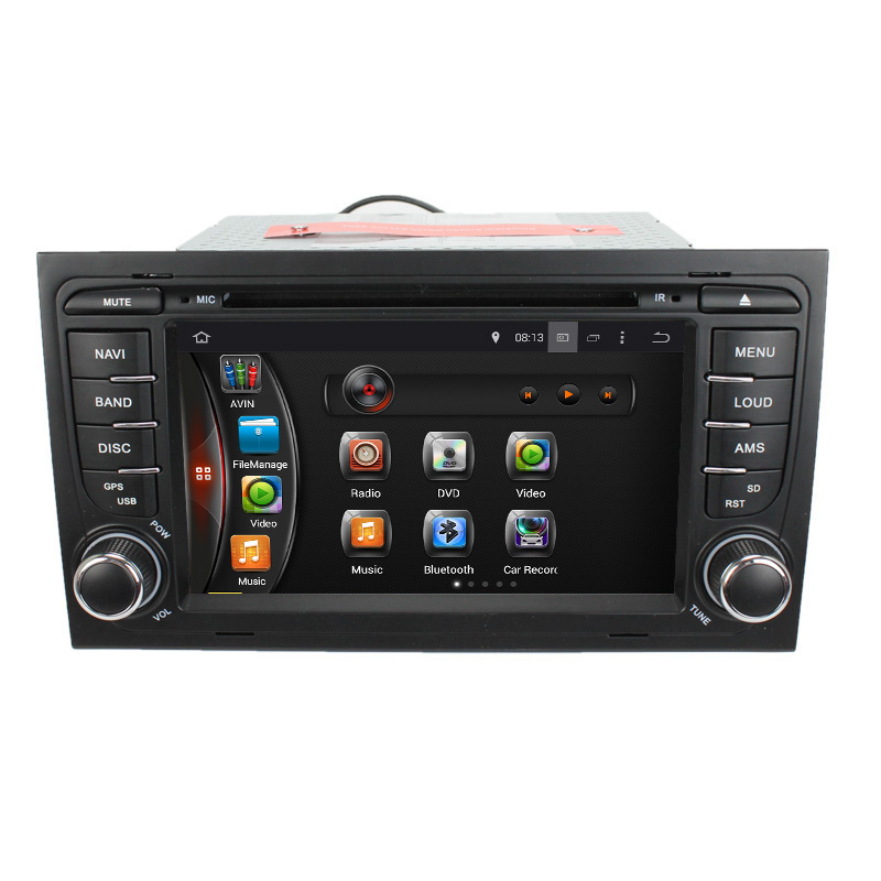 1024*600 Quad Core Android 4.4.4 Car DVD GPS Audio System