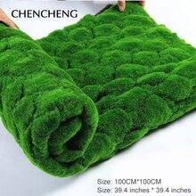 Square Mat Size 100CM*100CM Artificial Plant Turf Grass Green Garden Wall Living Room Decoration Decorative Artificial Grass