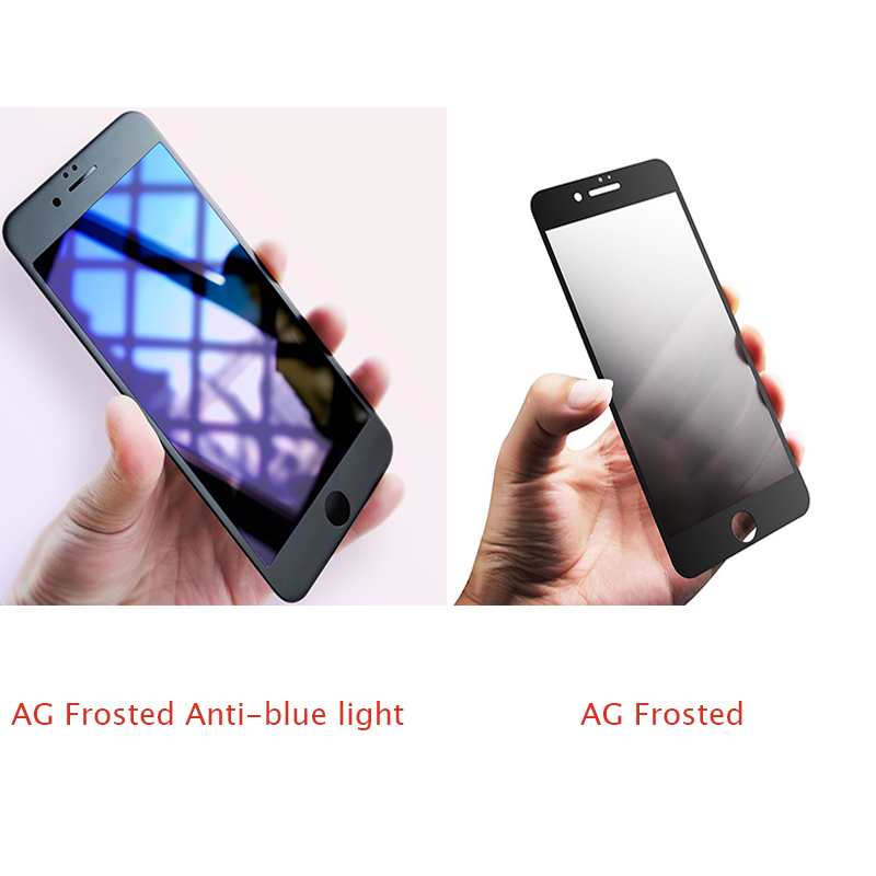 Suntaiho Premium 9H Anti-blue light 3D Frosted Full Curved Tempered Glass Screen Protector Film For iPhone 7 6 6sPlus Glass Film