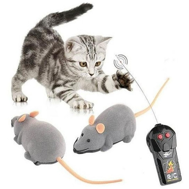 Afbeeldingsresultaat voor Nieuwe Kat Speelgoed Draadloze Afstandsbediening Muis Elektronische RC Rat Muizen Speelgoed Kat Speelgoed Muis