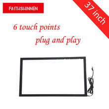 37 inch Multi Touch Screen Overlay Panel/IR Touch Screen Frame/USB Multi 6 points