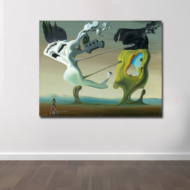 Wxkoil Salvador Dali, Maison Pour Erotomane Painting For Living Room Home Decor Oil Painting Print On Canvas Wall Painting 1
