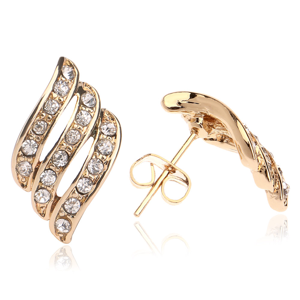 New arrival top design light weight simple gold earring designs ...