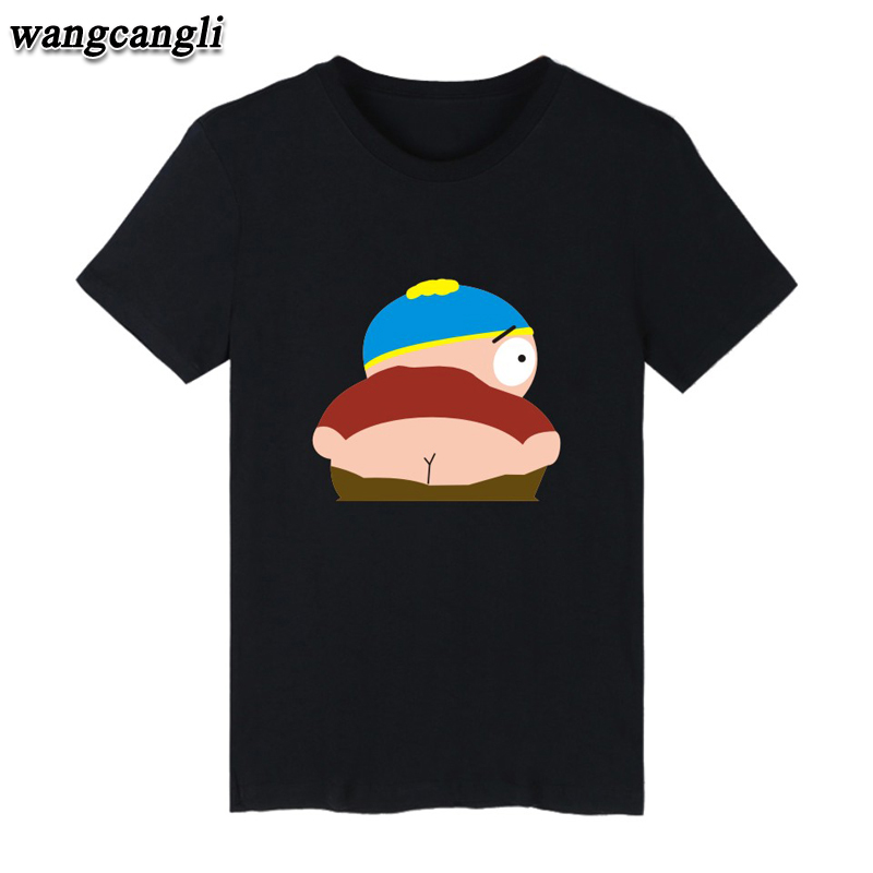 Cartoon Sitcoms South Park Cotton T-shirt Men Slim Fit Short Sleeve TShirts with Men Luxury in Plus Size Summer Tee Shirt