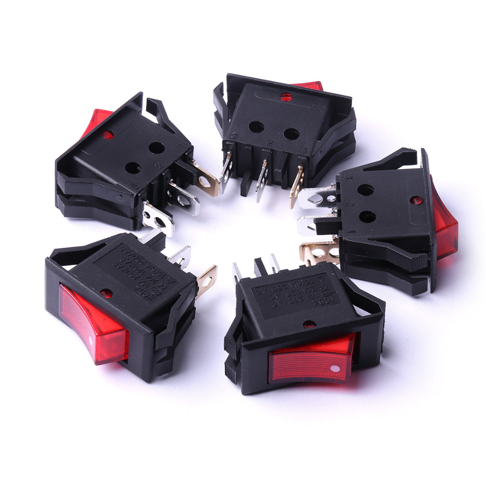 5/10Pcs Rocker Switch Voltage limit 2500V Press ON/OFF Button Rocker Switches Top Quality Quick-witted Reliable Rocket Switch limit switches limit switch