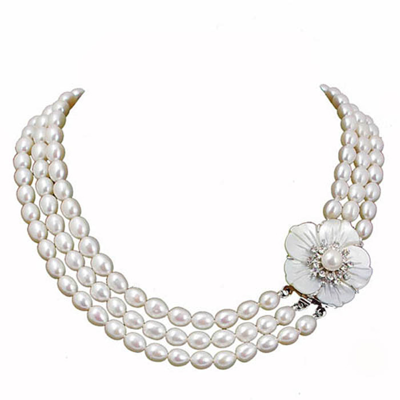 RUNZHUQIYUAN 2017 100% natural freshwater pearl long necklace Customized Length Cultured Genuine Pearls Choker for Women Gifts edi genuine natural freshwater pearls 5mm 100