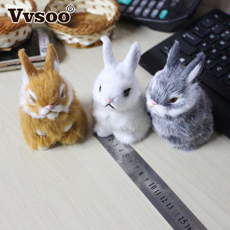 Vvsoo Easter Rabbits Plush Toy Easter Decorations For Home Cute Mini Simulation Easter Bunny Basket Party Decoration Kids Gift