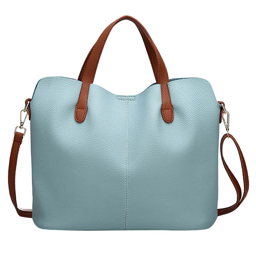 Femmes sac mode cuir couleur Pure bandoulière fermeture éclair épaule main bolsa feminina sacs pour femmes 2019 bolso mujer