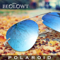 BEOLOWT Brand Fashion Polaroid Sunglasses Women men Polarized Driving Alloy Sun Glasses  with Case Box 7 Colors  BL155