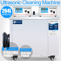 264L Stainless Steel Digital Ultrasonic Cleaning Equipment 3KW Power Sonic Oil Rust Removal Brushes Piezoelectric Cleaner 40KHZ