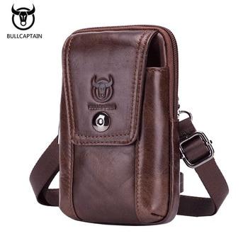 Men Waist Bag Pack Travel Phone Belt Pouch for Women Shoulder Genuine Leather Fanny Casual Hip pack