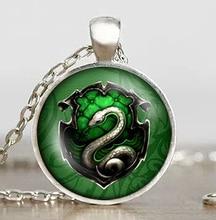 us movie inspired necklace 1pcs/lot death hallows chain Salazar Slytherin vintage steampunk snake Pendant locket women jewelry